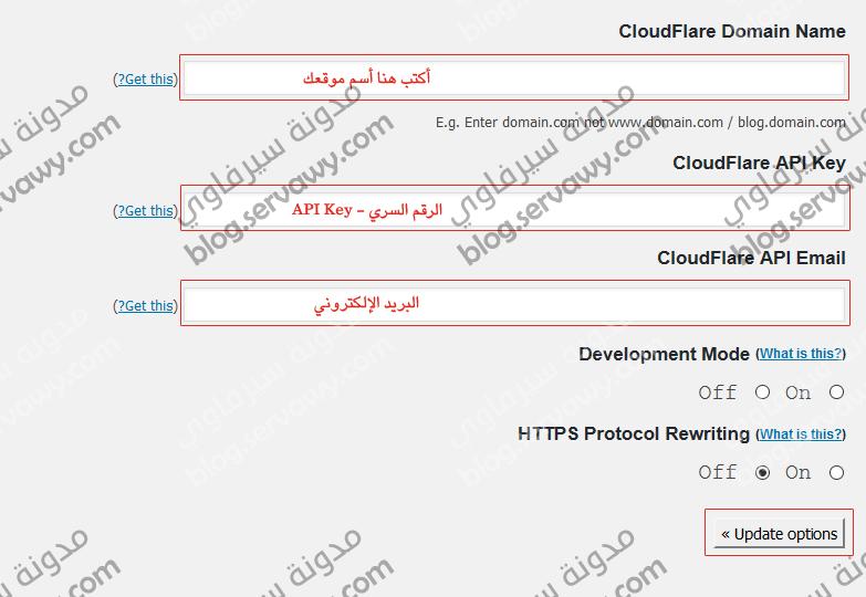 إضافة CloudFlare - ملاء البيانات