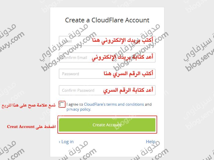 انشاء حساب جديد على كلاود فلار - Create a CloudFlare Account