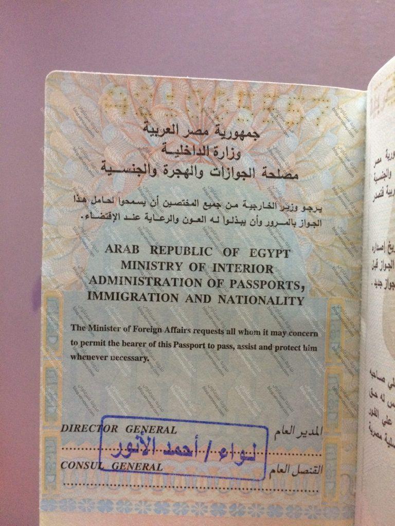 جواز السفر المصري - تسهيلات