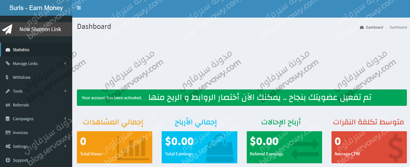 YOUR ACCOUNT HAVE BEEN ACTIVATED - SHORTLINK AND EARN MONEY NOW