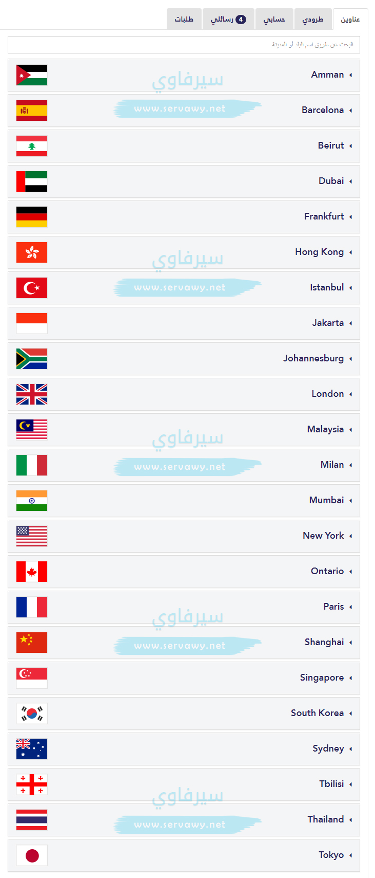 قائمة الدول الـ 23 في شوب أند شيب
